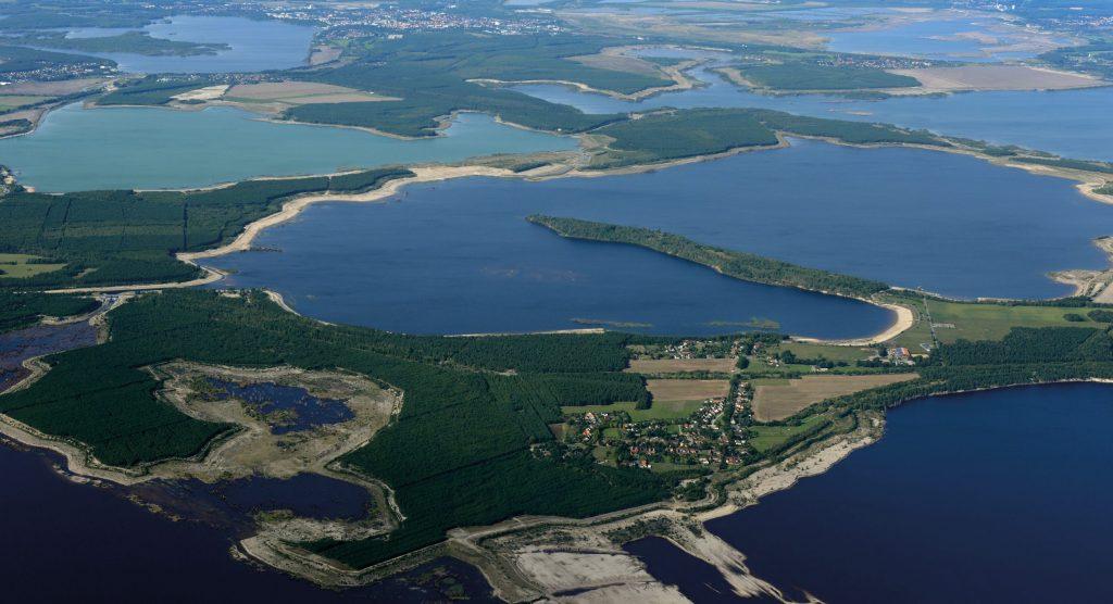 Seenland aus der Vogelperspektive