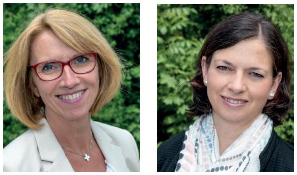 Portrait-Fotos der Trainerinnen Ines Spilker und Kerstin Wöbbeking
