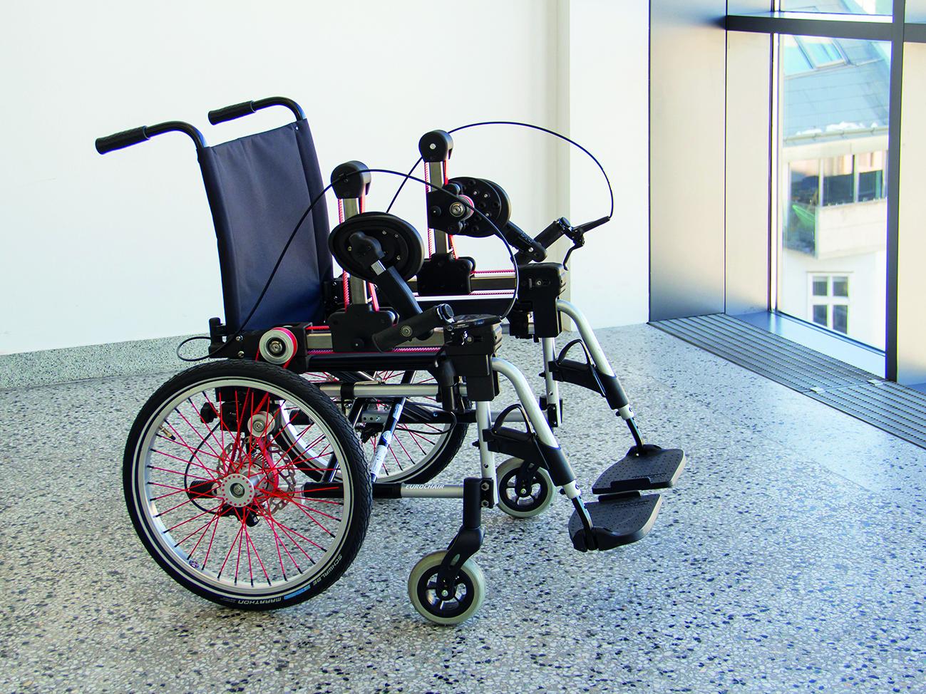 Kurbelantrieb für Rollstuhl